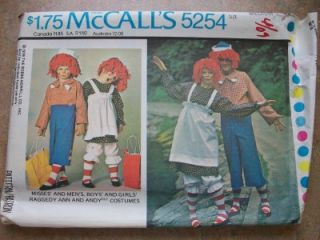 Adult Halloween Costume Sewing Pattern Raggedy Ann Andy