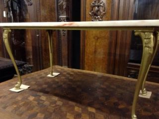 Beautiful Antique Marble Top Coffee Table 07BE096