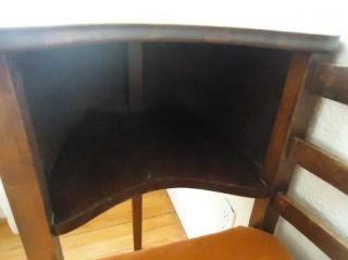 Vintage Mid Century Modern Gossip Bench Telephone Table Chair Eames Era