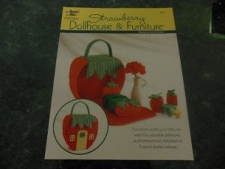 Strawberry Dollhouse Furniture Plastic Canvas Pattern by Janna Britton Annie'S