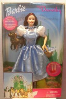 Barbie as Talking Dorothy Wizard of oz 1999 Mattel 25812 Ruby Slippers Toto