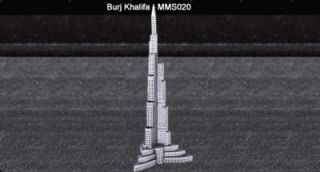 Metal Marvel 3D Laser Burj Khalifa Unassembled Model Building Hotel Steel Hobby