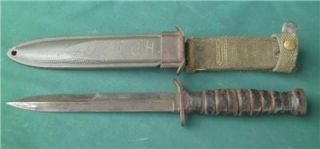Vintage WW2 US M8 Marked Imperial Trench Combat Fighting Knife Bayonet Sheth
