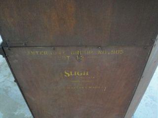 S Antique Mahogany Corner Curio China Cabinet Cupboard