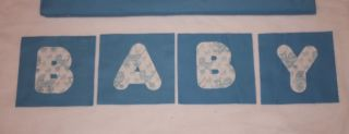"""Blue Baby Carriage Minky Rag Quilt Kit 84 6"""" Square DIY"""