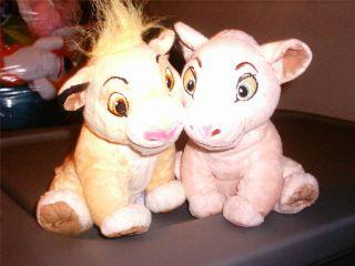 Set 2 Euro Disney London The Lion King Cubs Simba Nala Plush Baby Lovey Animal