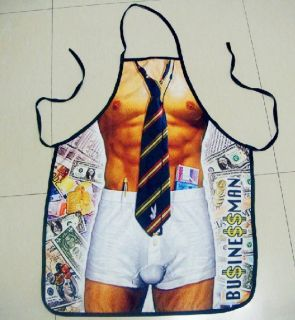New Super Sexy Funny Muscle Women's Apron Party Cooking Kitchen Businessman Gift