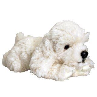 Keel Toys 30cm Laying White Labradoodle Labrador Poodle Dog Puppy Soft Plush Toy