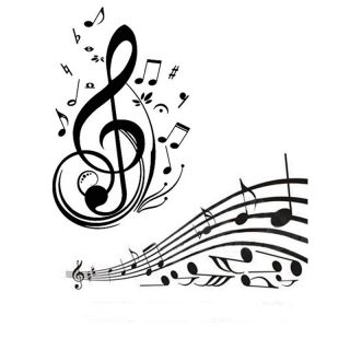 Music Note Pattern Graffiti Wall Home Decor Mural Decal Sticker PVC WallSticker