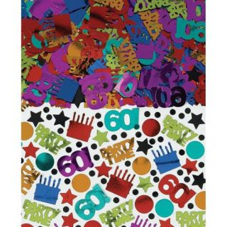 Happy 60th Birthday Party Ideas Supplies Favors Metallic Table Confetti 2 5oz