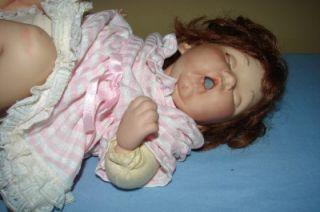 Vintage Handmade Porcelain Newborn Life Like Baby Doll