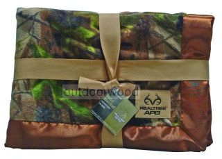 Camo Realtree APG Baby Blanket Hunting Fishing Outdoor Sportsman Infant
