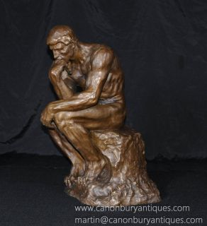Large French Bronze Casting Rodin The Thinker
