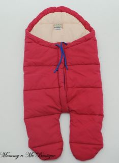 Ll Bean Red Newborn Baby Bunting Baby Bag Suit