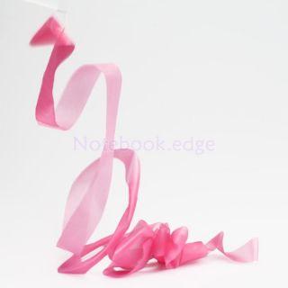 Gym Rhythmic Gymnastic Ballet Dance Ribbon Streamer Rod Baton Twirling Pink