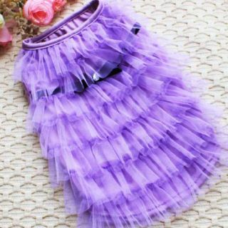 3 Color Luxury Cat Dog Clothes Party Wedding Princess Layer Skirt Dress XS s M L