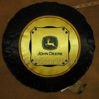 Scene Weaver John Deere Tractor Tire Pillow w Logo New