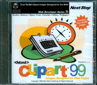 HTML Clipart 99 from Nextstep Web Developer Series for Windows 98 95 NT 4 0 New