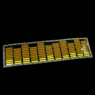 Yellow Car Music Rhythm LED Flash Light Sticker Sound Activated Equalizer New X1