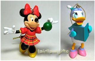Daisy Duck Minnie Mouse Christmas Ornaments Xmas Grolier Box Boxed Presidents