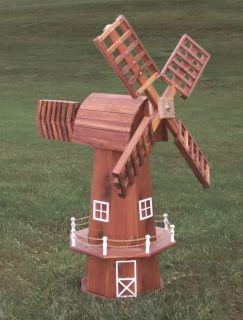 Amish Wooden Windmill Outdoor Garden Yard Patio Decor Solid Wood New