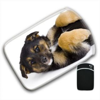 German Shepherd Puppy Dog on Back Tablet eReader Sleeve Case Cover