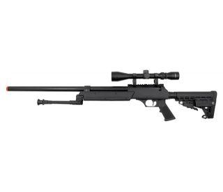 Well DMR APS SR 2 M4 Bolt Action Metal Airsoft Sniper Rifle Gun w Scope Bipod