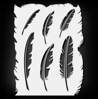 Feathers Airbrush Stencil Template Airsick