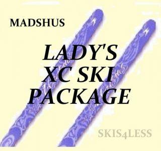 Premium Touring Madshus XC Cross Country Skis Pkg Skis Boots Bindings Poles