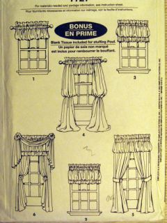Home Decor Sewing Pattern Window Treatments Pouf Valances Curtains