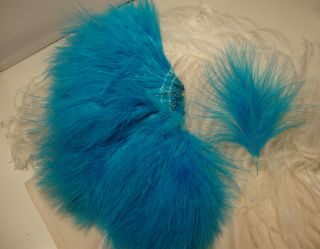 Turquoise Blood Quill Turkey Marabou Feathers Quality
