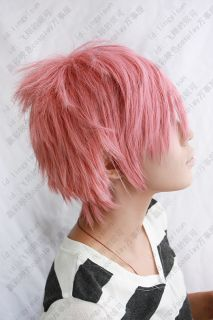 Soul Eater Crona Cosplay Wig Pink Short Spike Day Use Costume Party coser Hair