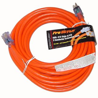 50 ft 10 Gauge Industrial Electric Extension Power Cord Electrical Cable Orange