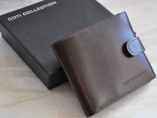 Brand New in Box Luxury Italian Leather Australian Designer Men's Wallet RRP$80