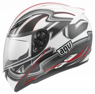 Agv K3 Chicane Full Face Race Touring City Motorcycle Helmet White Red Black