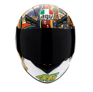 Agv K3 Dreamtime Full Face Race Touring City Motorcycle Helmet Blue Orange White