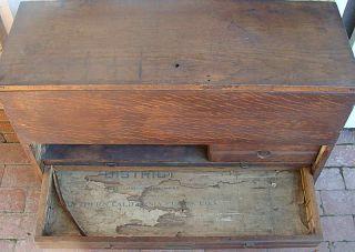 Antique Oak Engineer Surveyors File Cabinet Tool Chest