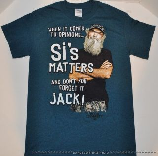New Mens A E Duck Dynasty SI Matters Jack T Shirt Commander Robertson Family