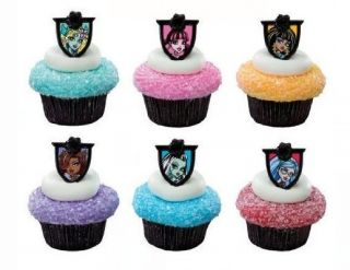 144 Monster High Fear Friends Cupcake Rings Cake Toppers Favors Party Supplies