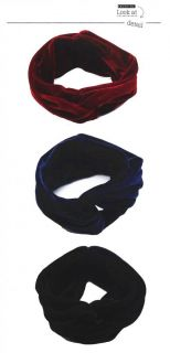 HA9 Celebrity Style Vintage Double Stretch Velvet Turban Headband Headwrap