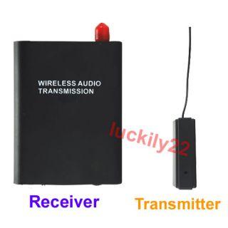 New Wireless FM Spy Bug Audio Transmitter Receiver