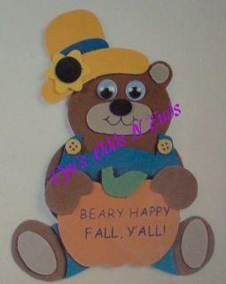Foam Craft Kit Magnet Beary Happy Fall Bear