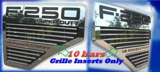 08 09 10 2010 Ford F250 F350 F450 Fender Side Vent Billet Grille 2009 2008