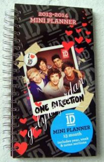 One Direction 1D Spiral 2013 2014 Mini Planner Back to School Supplies