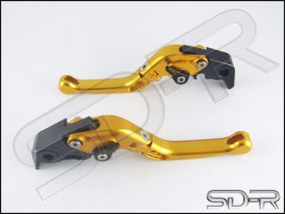 2012 2014 Triumph Tiger 1200 Explorer Short Folding Adjustable Levers Gold