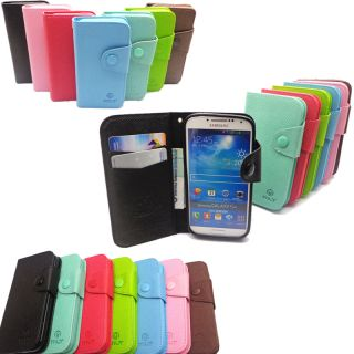 Deluxe Card Flip Wallet Leather Candy Case TPU Cover Book for iPhone Samsung