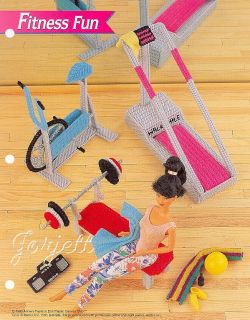 Fitness Fun Accessories Annie's Plastic Canvas Patterns Fit Barbie Doll