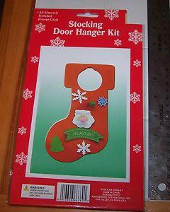 Christmas Stocking Door Hanger Decoration Foam Craft Kit