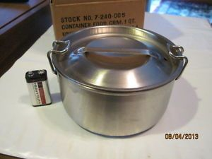 Hercules Food Service Equipment Stainless Steel Food Container 1 Quart USA