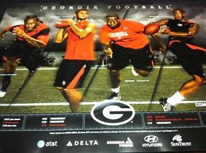 Georgia Bulldogs Football 2012 Team Schedule Poster Aaron Murray Jarvis Jones